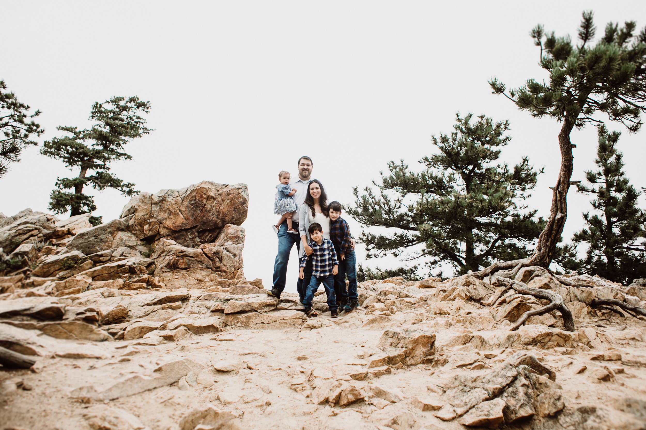 flagstaff mountain family portrait