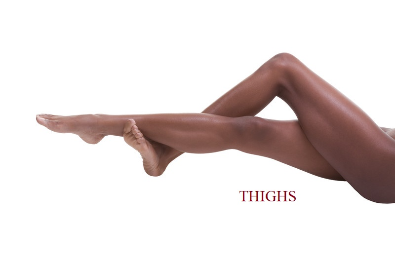 Thigh energy relates to beliefs we hold pertaining to masculinity and femininity. These 'acceptances' may be inherited or the result of social programming. Sexual ambiguity and unprocessed emotions related to masculine and feminine nature may also need to be addressed. Physically, these issues may manifest as thigh pain, popping or snapping, weakness, or over- or under-developed thigh muscles.