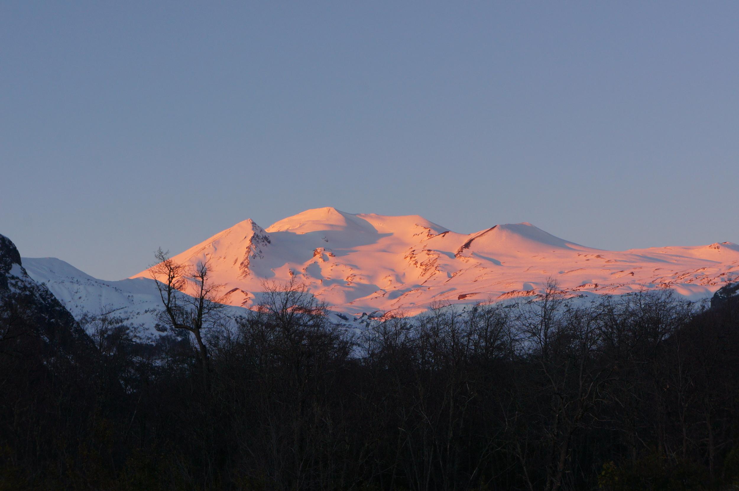 Sunset on Volcán Nevados de Chillan