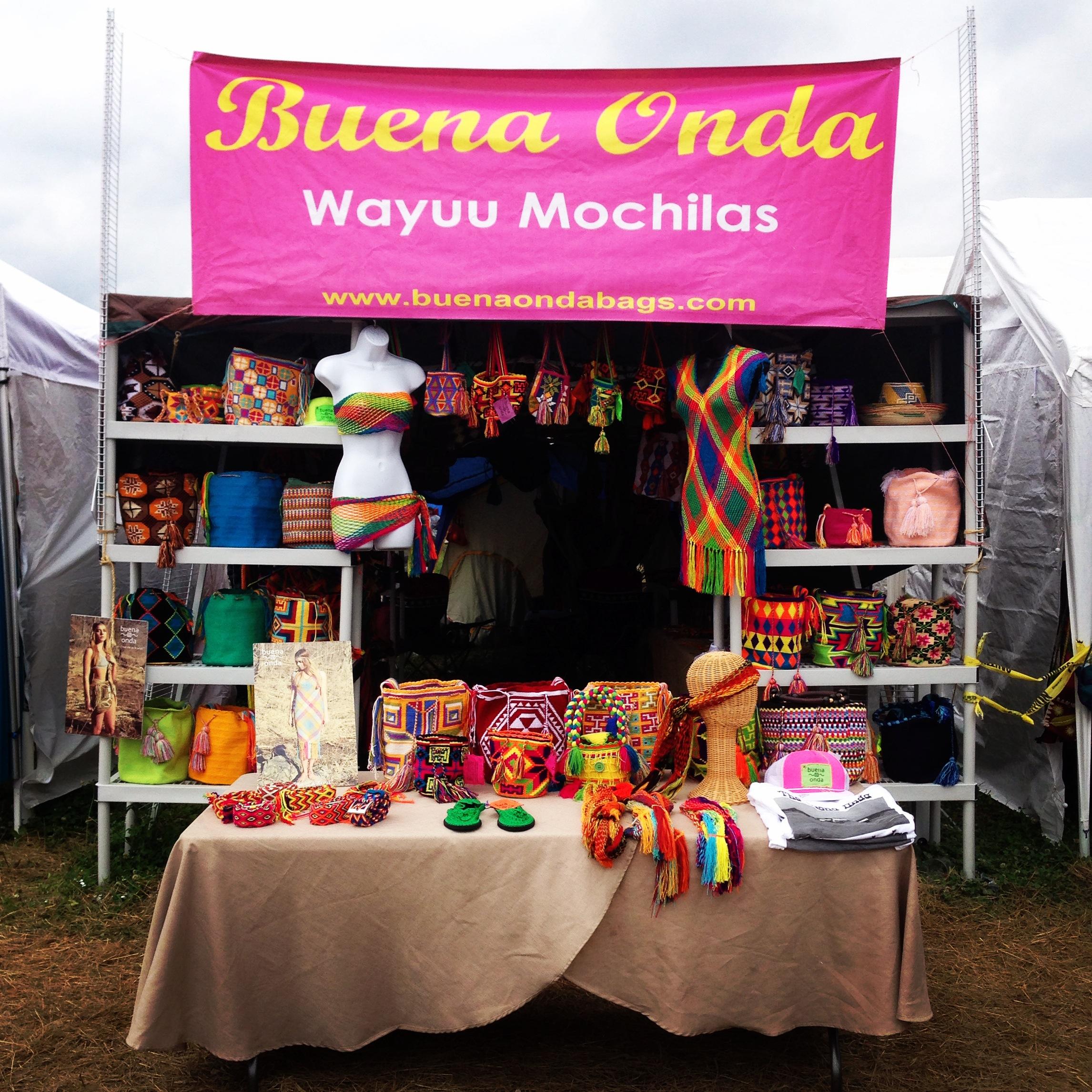 The Buena Onda Bonnaroo Set Up