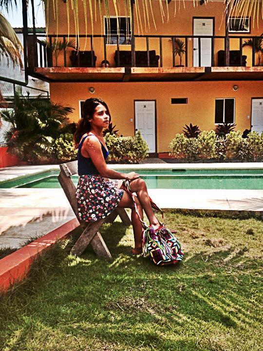 Katy rocks her Wayuu Mochila.