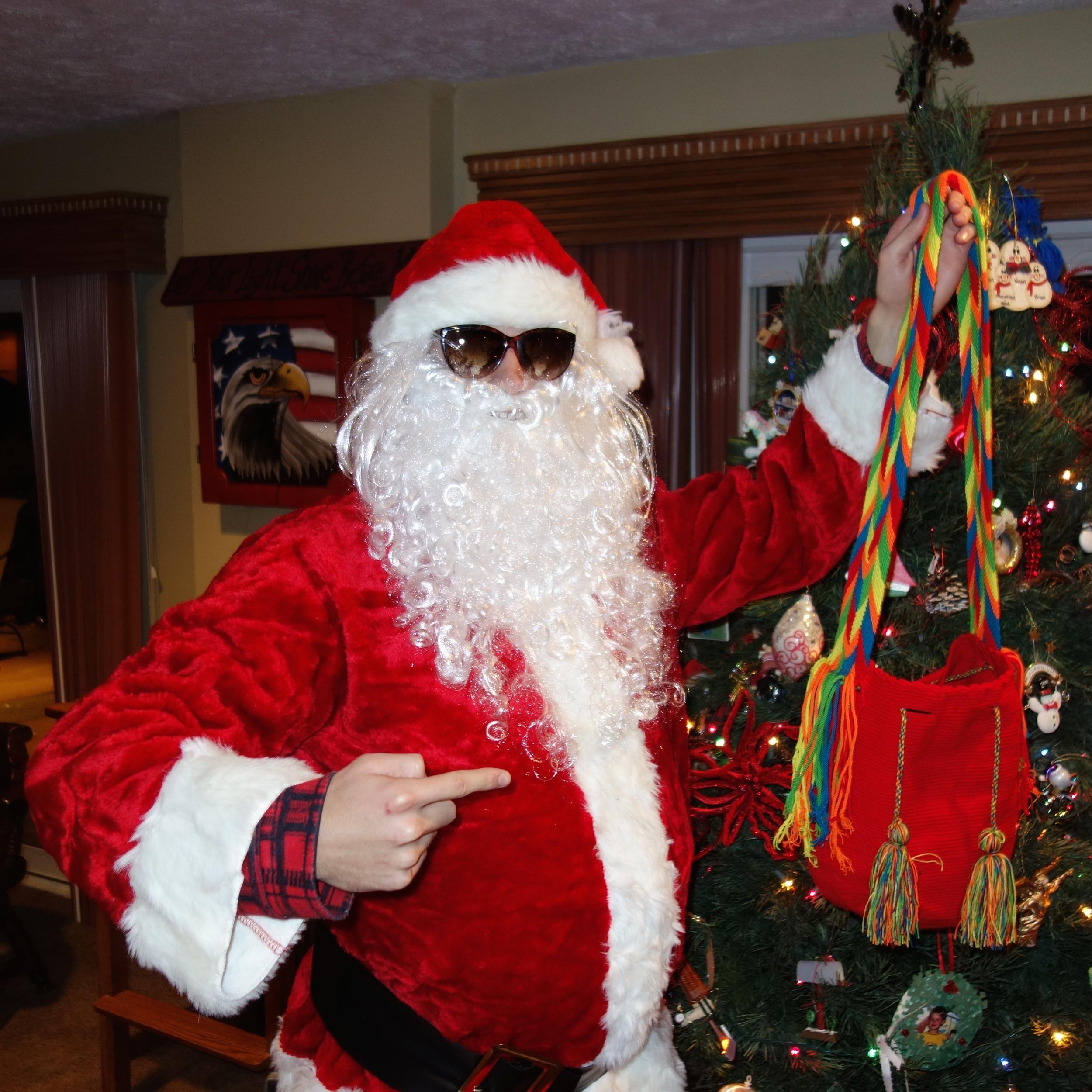 Even Santa Claus Loves Wayuu Mochilas.