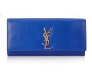 Saint Laurent blue clutch,