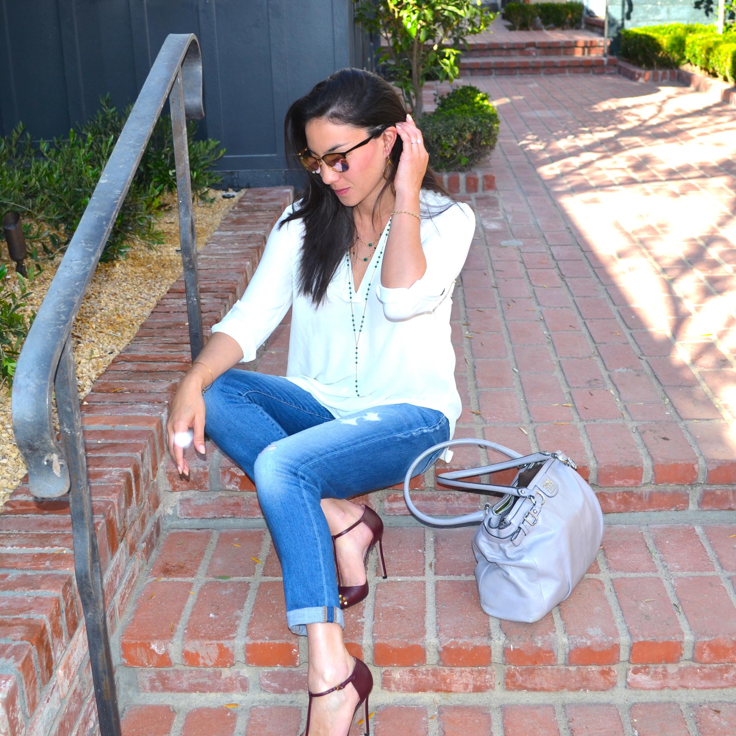 White blouse-seven jeans- summer blog.JPG