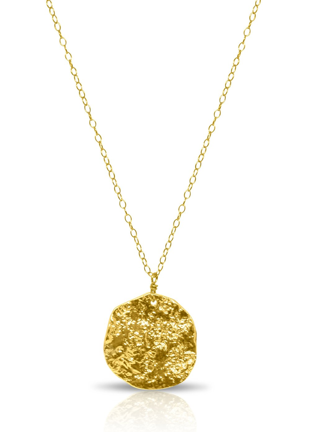 Gold Filled Textured Disc Necklace Boy Cherie Jewelry Delicate Fashion Jewelry That Won T Break Or Tarnish