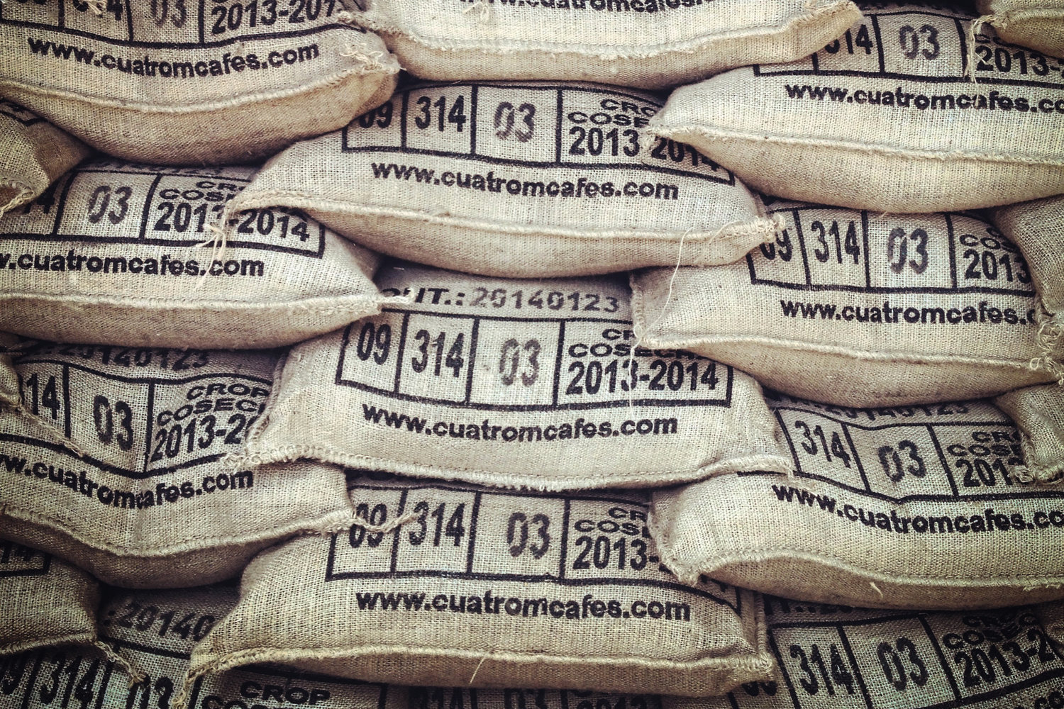 Sacs  Coffee is shipped in burlap sacs. For all of El Salvador, and most of Central America, each sac weighs 69 kg, or 150 pounds.
