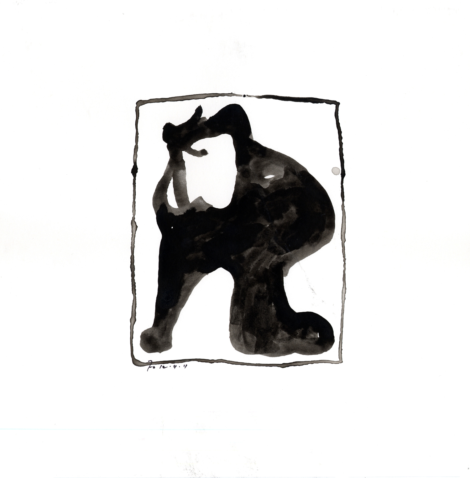 Drawing #1  , 2011, India ink on paper, 12 x 12 in.