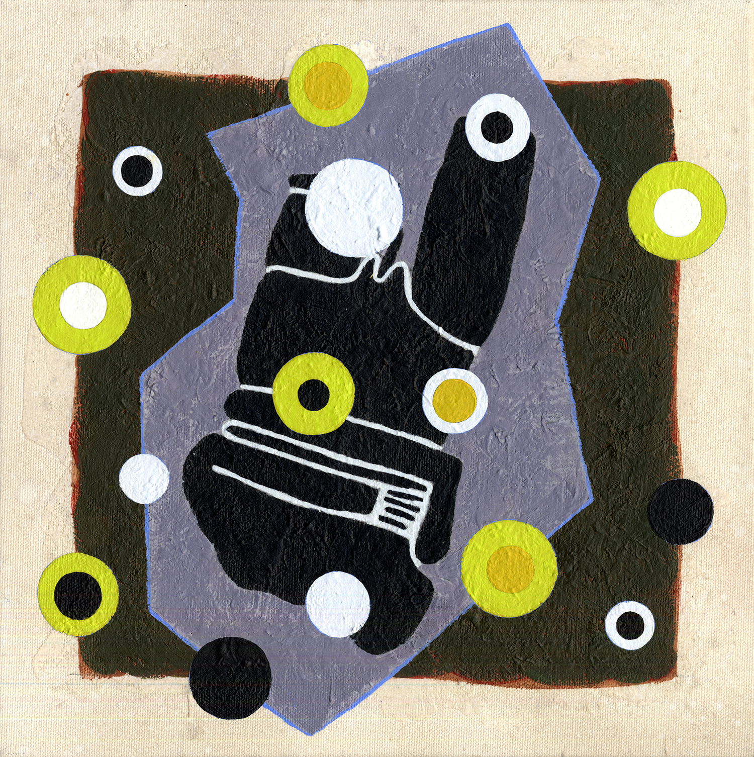 S124/Sq4  , 2011, oil and wax on canvas, 12 x 12 in.