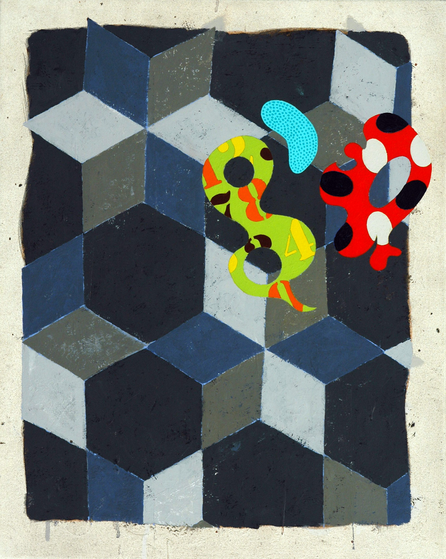 Pattern 1  , 2003, oil and wax on canvas, 20 x 16 in.