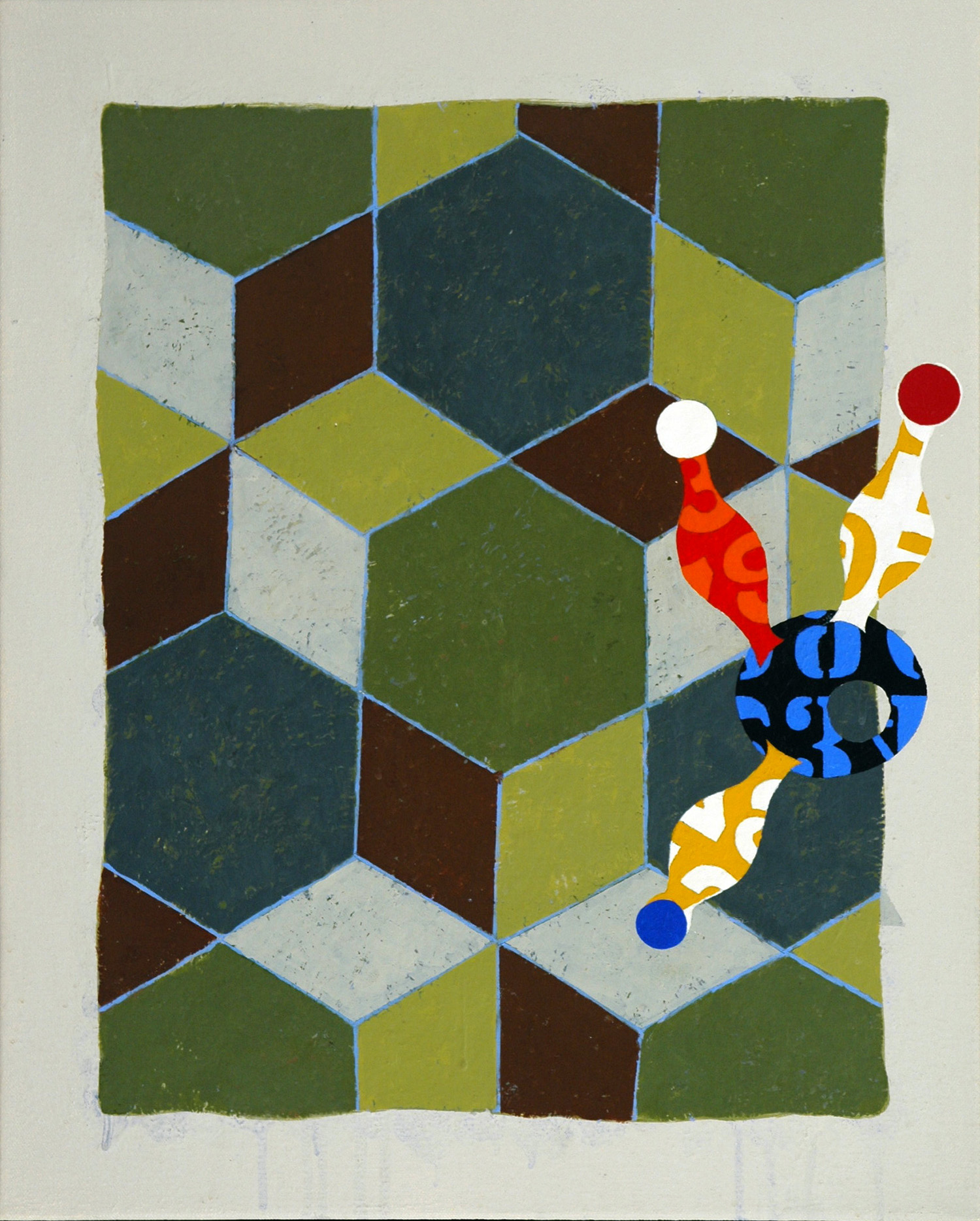 Pattern 9  , 2003, oil and wax on canvas, 20 x 16 in.
