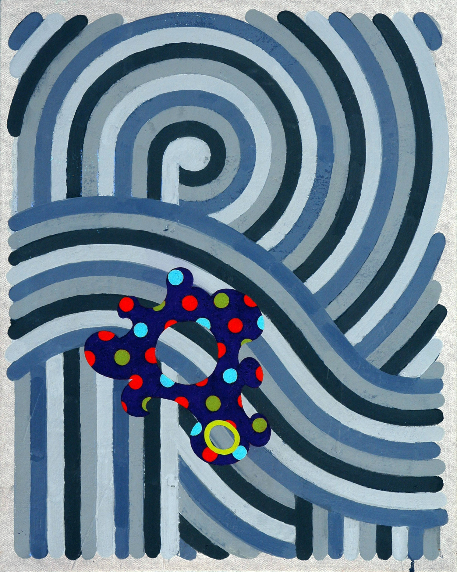 Pattern 10  , 2003, oil and wax on canvas, 20 x 16 in.