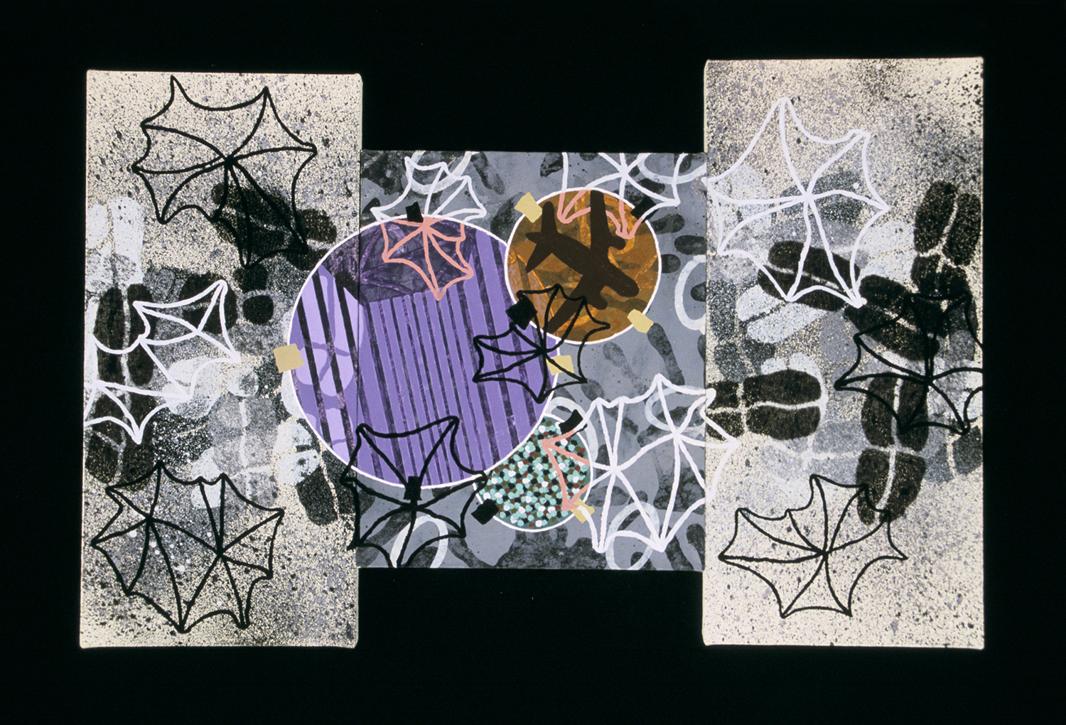What I Saw Triptych 11  , 2001, oil and wax on canvas, 14 x 24 in.