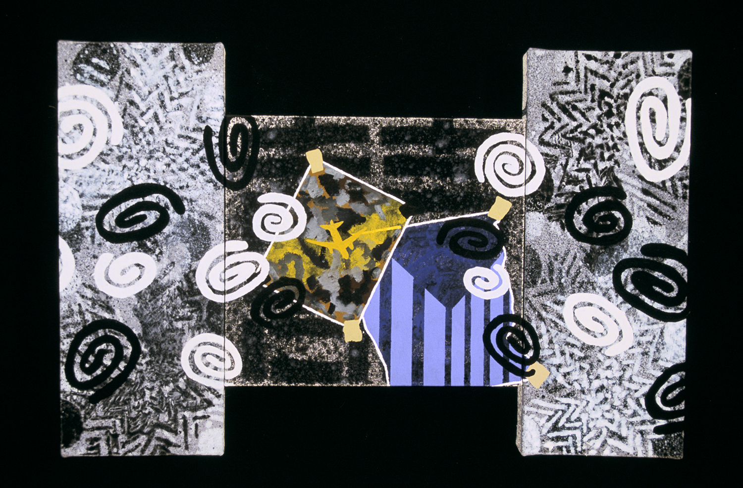 What I Saw Triptych 13  , 2001, oil and wax on canvas, 14 x 14 in.