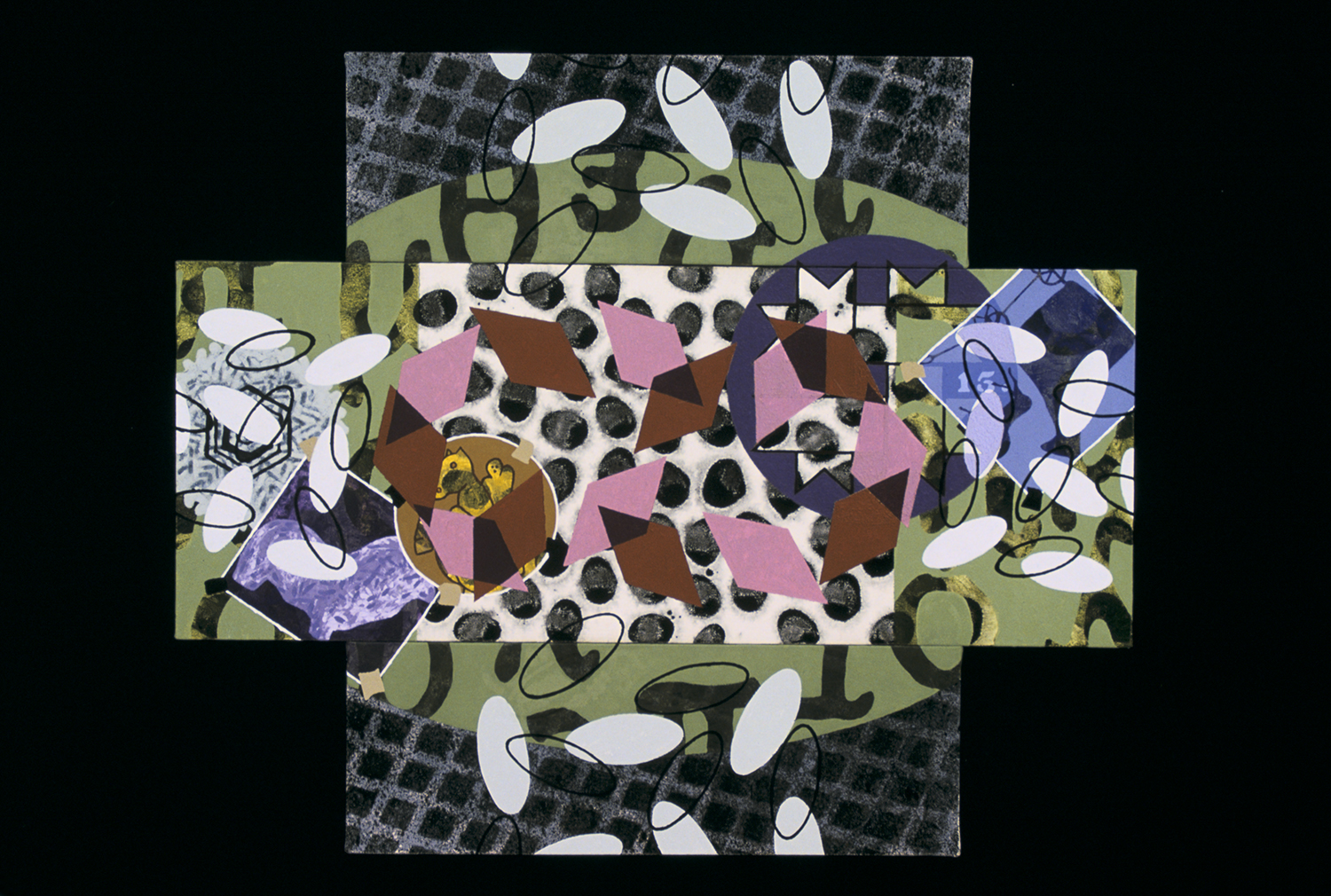 Triptych 7  , 2001, oil and wax on canvas, 36 x 36 in.