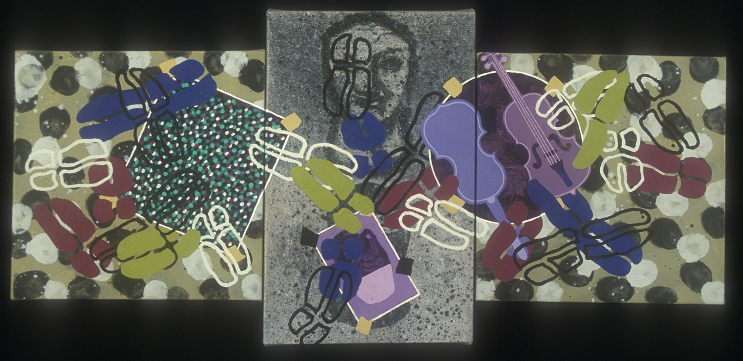 Triptych 21  , 2002, oil and wax on canvas, 14 x 36 in.