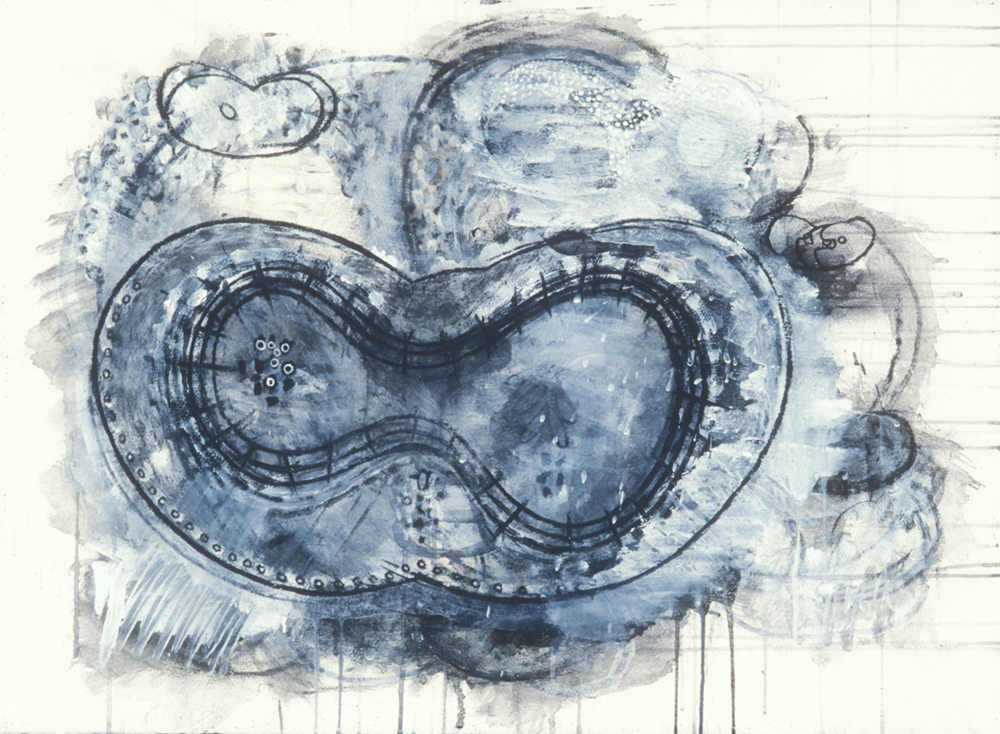 Elemental 15  , 1989, mixed media on paper, 21.5 x 29.5 in.