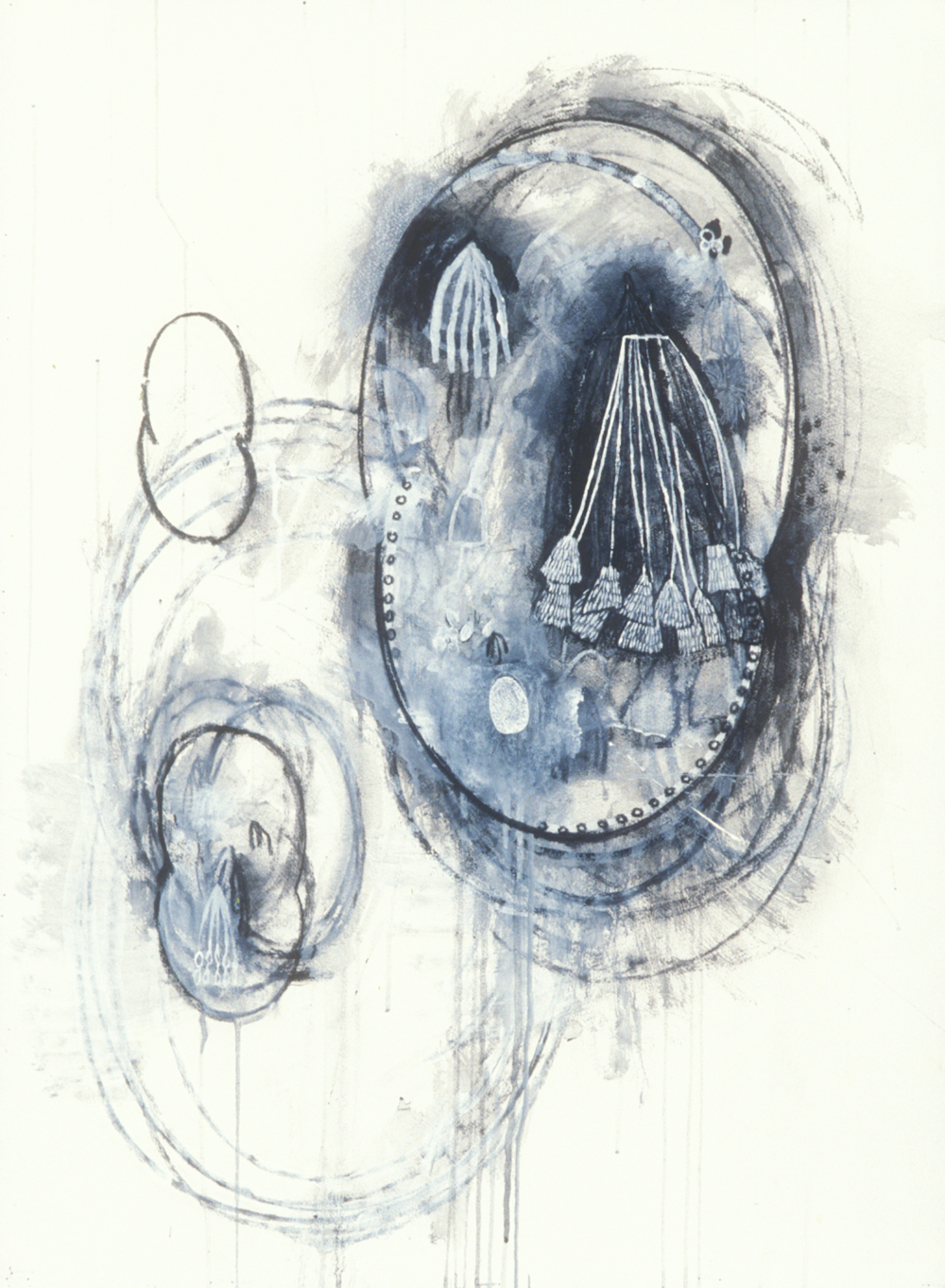 Elemental 11  , 1989, mixed media on paper, 29.5 x 21.5 in.
