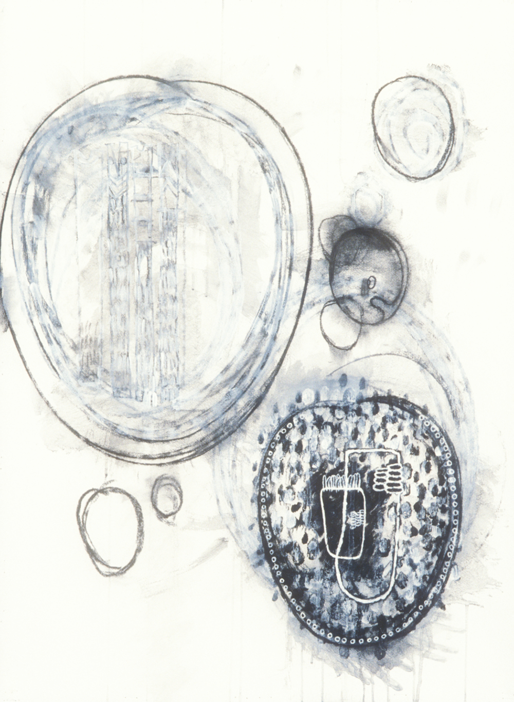 Elemental 3  , 1989, mixed media on paper, 29.5 x 21.5 in.