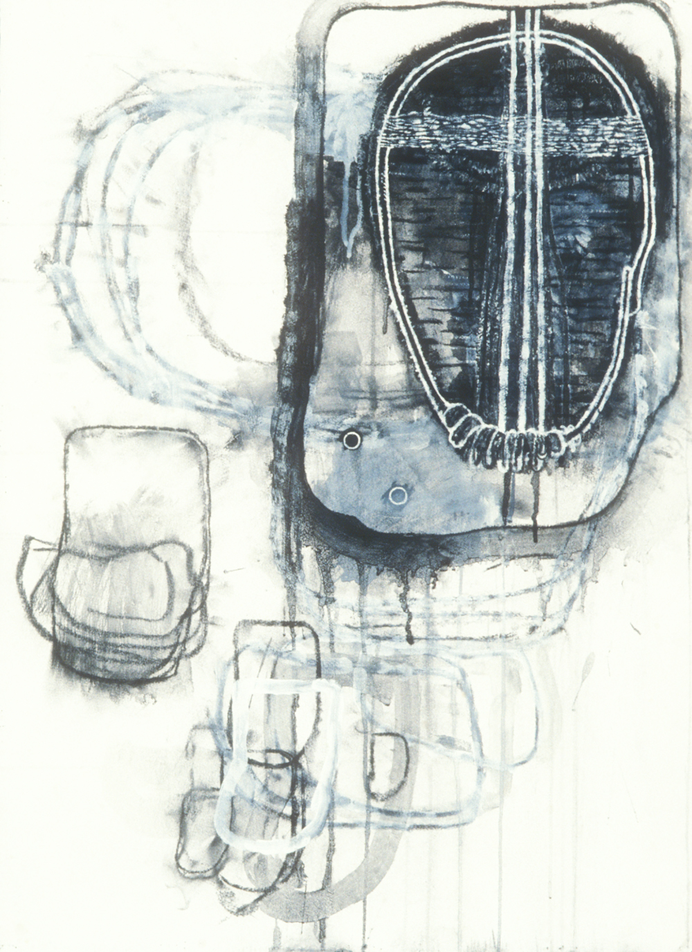 Elemental 8  , 1989, mixed media on paper, 29.5 x 21.5 in.
