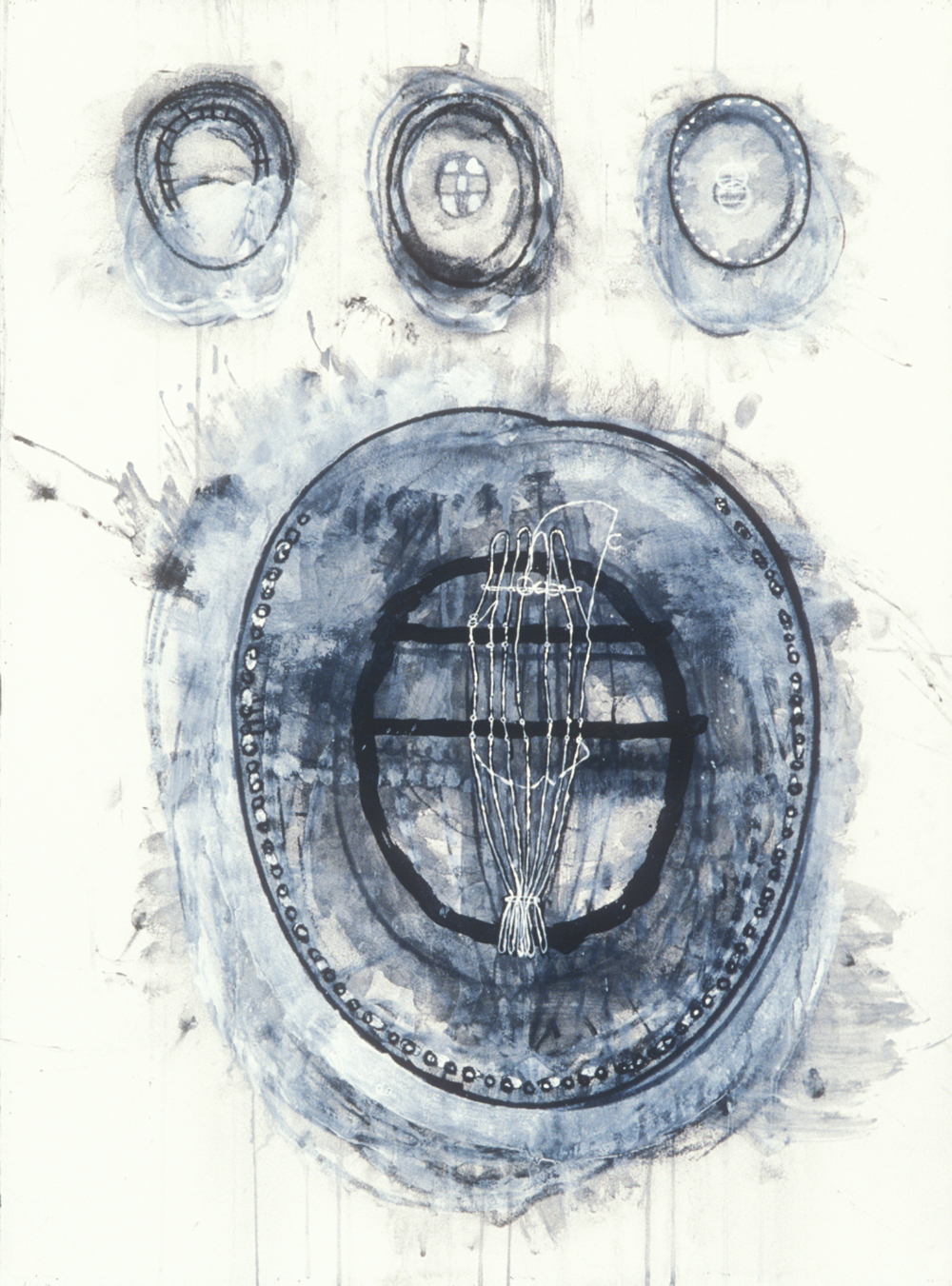 Elemental 22  , 1990, mixed media on paper, 29.5 x 21.5 in.