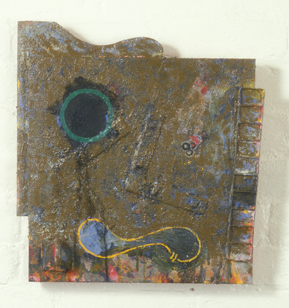 Palette 34  , 1989, oil and wax on wood, 16 x 14 in.