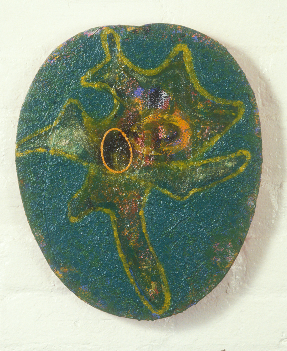 Palette 35  , 1989, oil and wax on wood, 15 x 12 in.