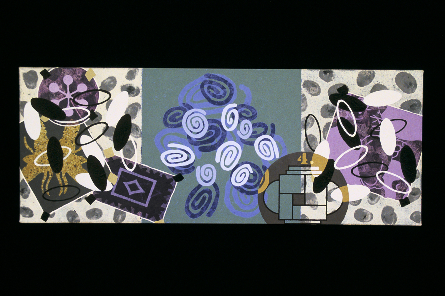 Triptych 4  , 2001, oil and wax on canvas, 12 x 36 in.