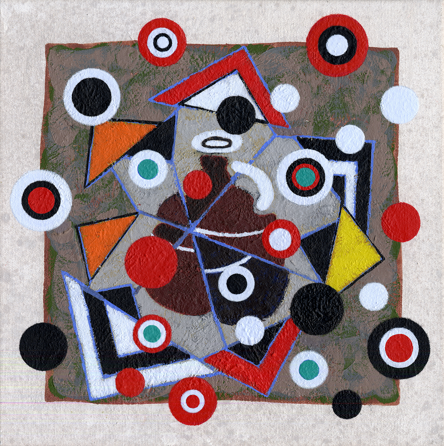 S184/Sq64   2012, oil and wax on canvas, 12 x 12 in.