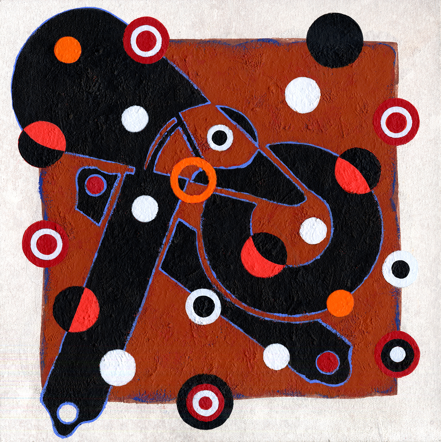 S151/Sq31  , 2011, oil and wax on canvas, 12 x 12 in.