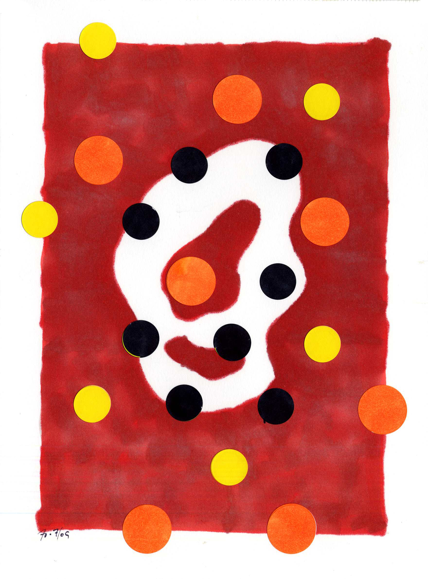 dwg09_018  , 2009, mixed media on paper, 12 x 9 in.
