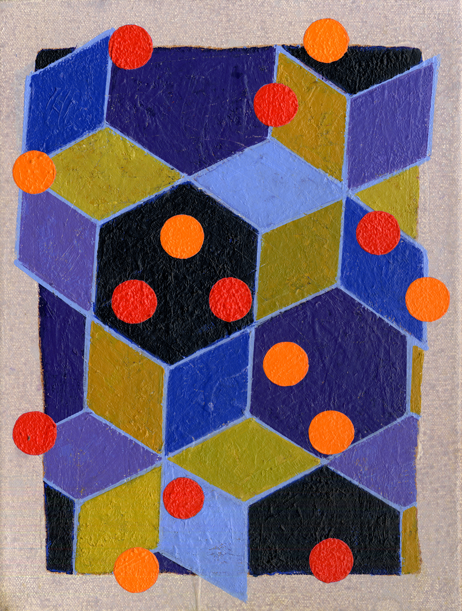 S1_08  , 2008, oil and wax on canvas, 12 x 9 in.