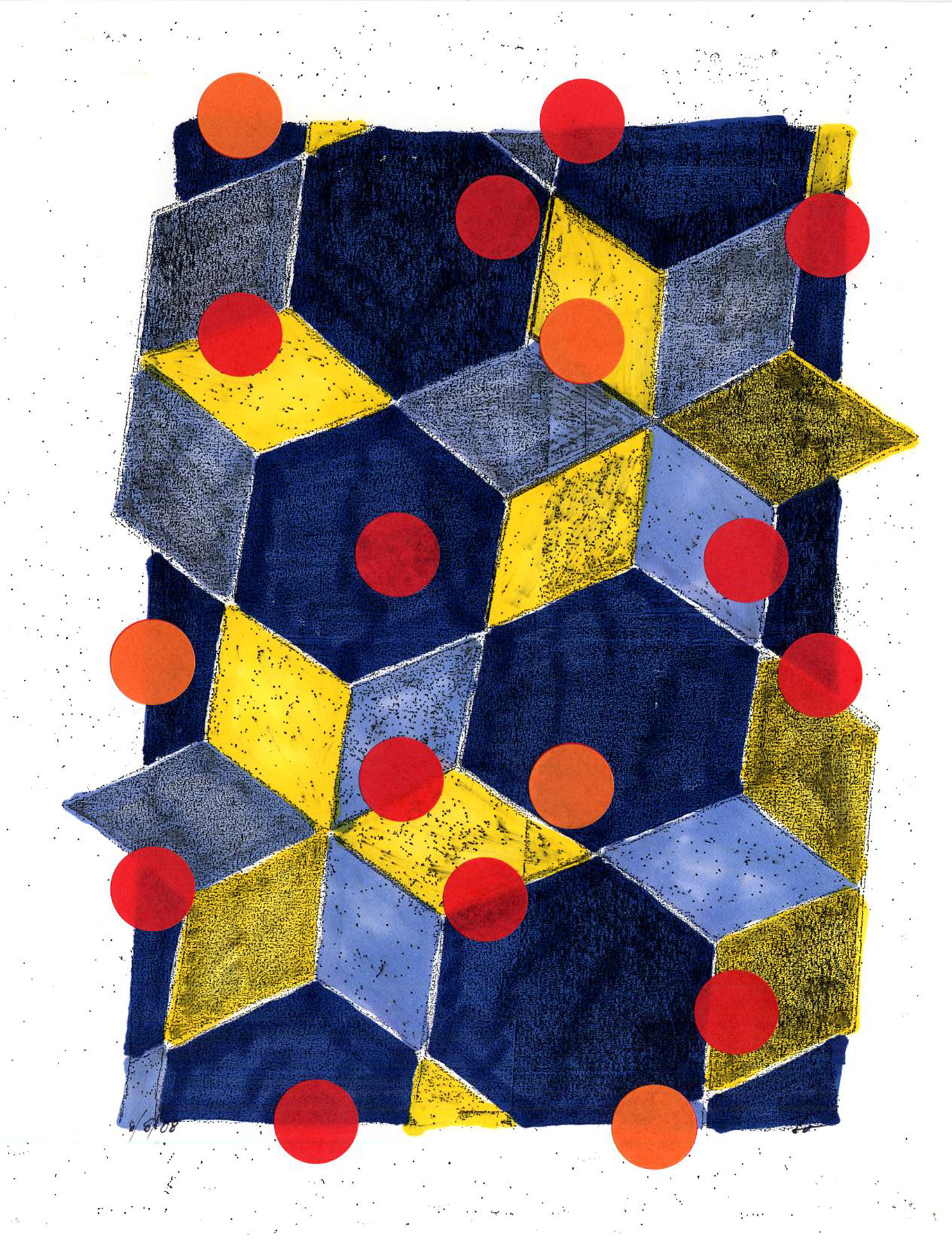 dwg08_20  , 2008, mixed media on paper, 12 x 9 in.
