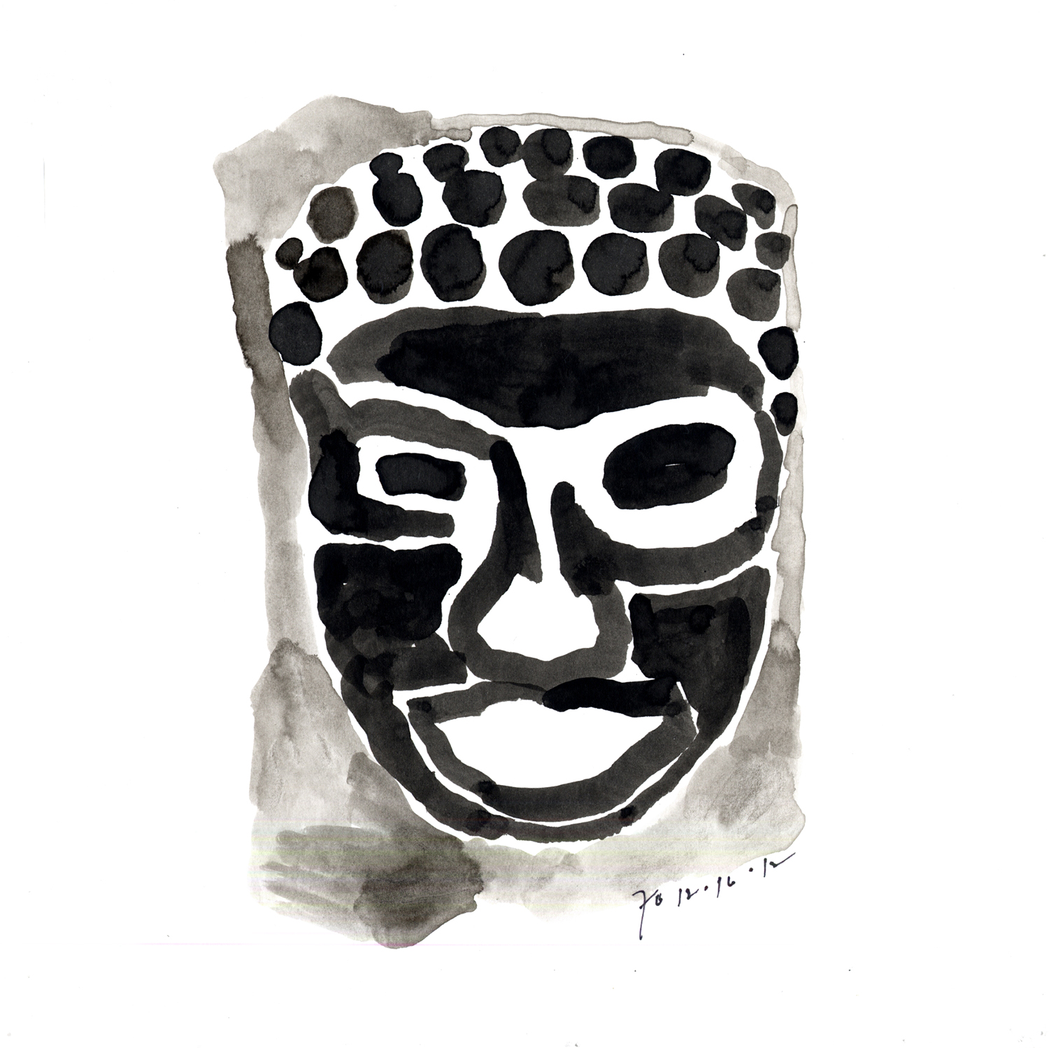 Drawing #23  , 2011, India ink on paper, 12 x 12 in.