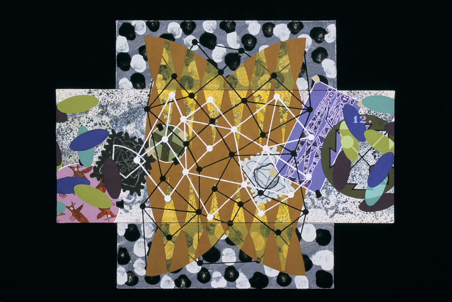 Triptych 8  , 2001, oil and wax on canvas, 40 x 36 in.