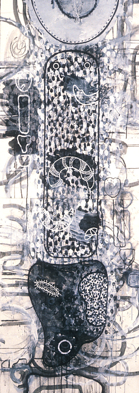 Untitled Study #3  , 1989, charcoal and gesso on paper, 60 x 22 in.