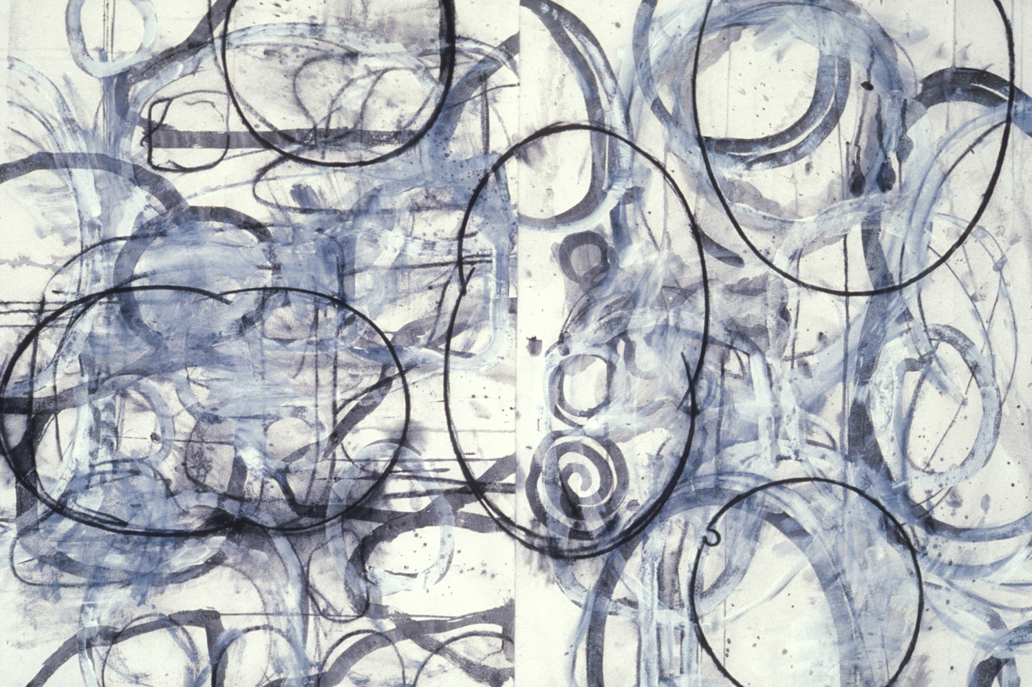 Untitled #6  , 1989, charcoal and gesso on paper, 30 x 44 in.