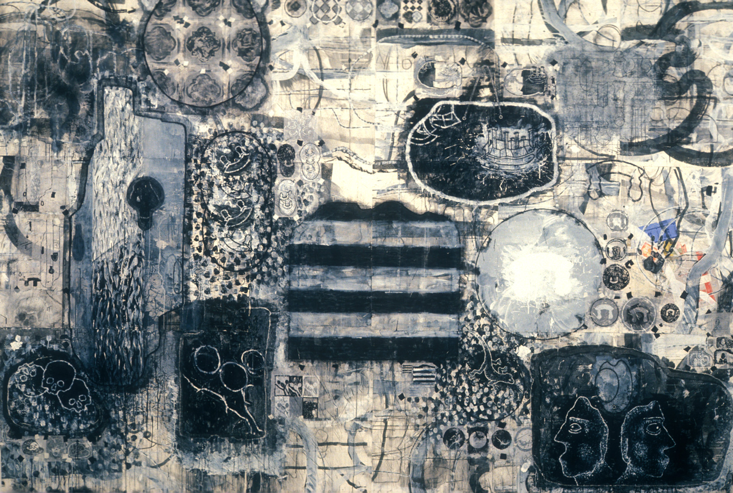 Study for Umbertide  , 1990, acrylic, charcoal and gesso on paper, 66 x 120 in.