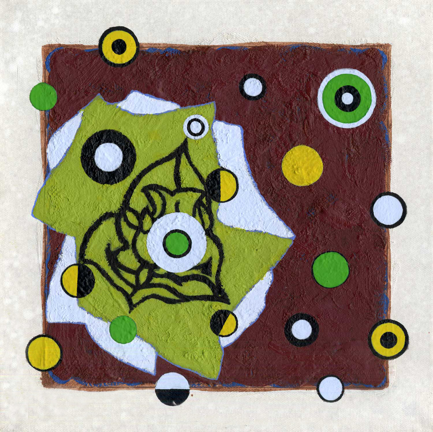 S233/Sq113  , 2014, oil and wax on canvas, 12 x 12 in.