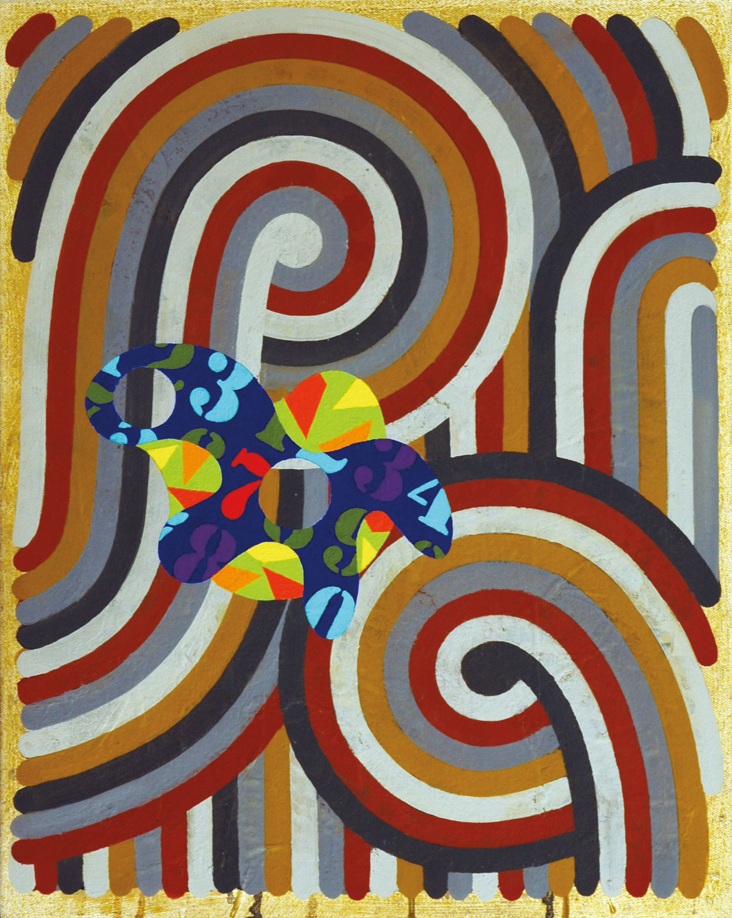Pattern 1  , 2005, oil and wax on canvas, 20 x 16 in.