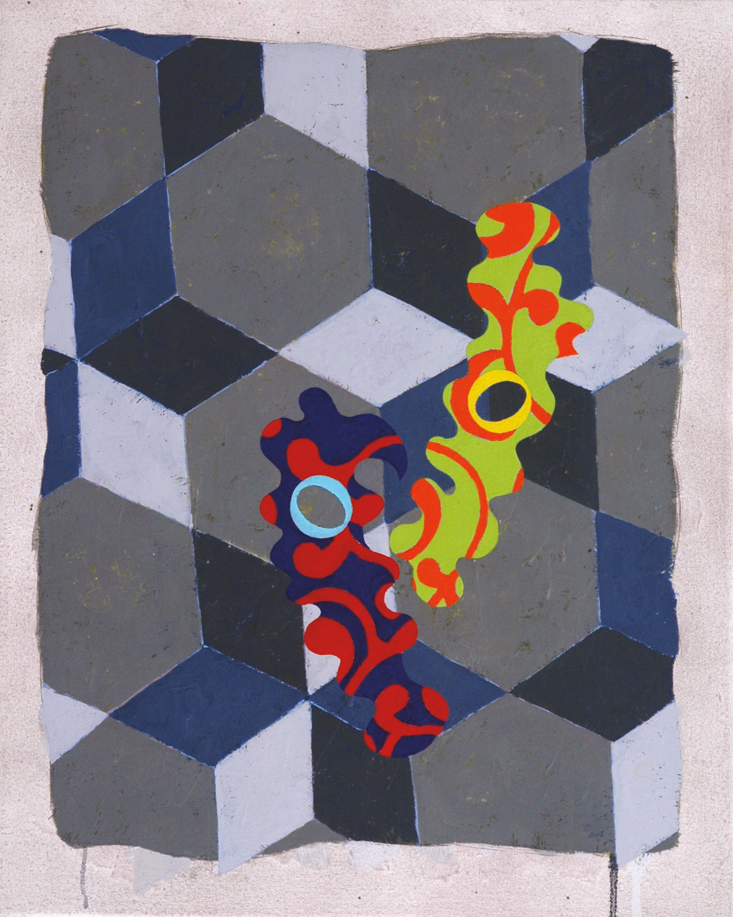 Pattern 4  , 2004, oil and wax on canvas, 20 x 16 in.
