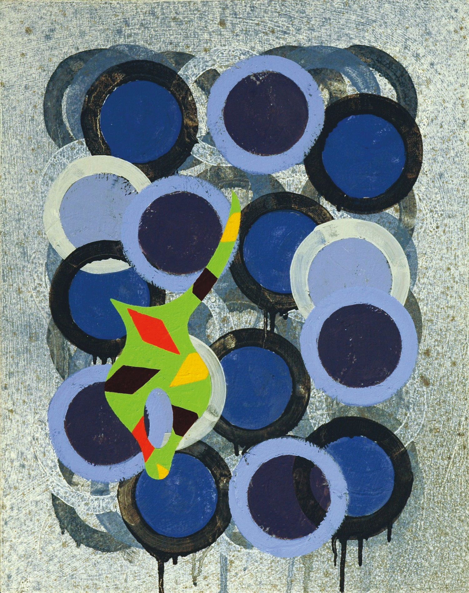 Pattern 7  , 2005, oil and wax on canvas, 20 x 16 in.