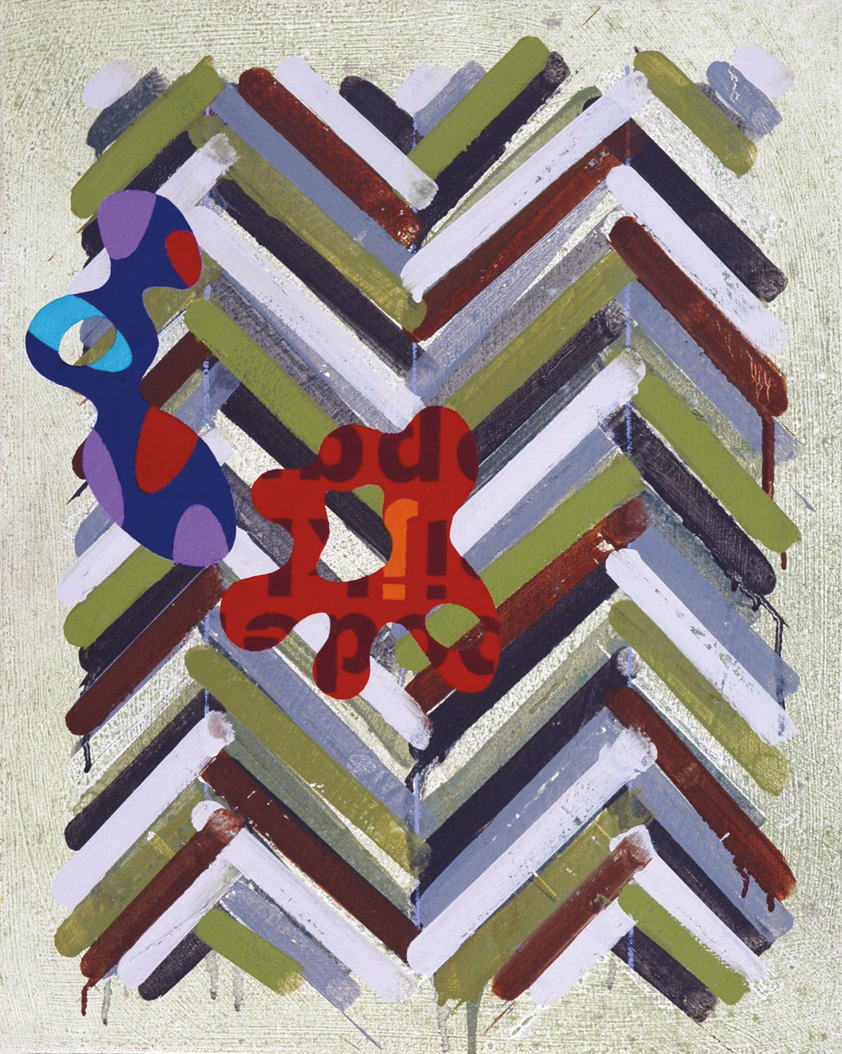 Pattern 2  , 2003, oil and wax on canvas, 20 x 16 in.
