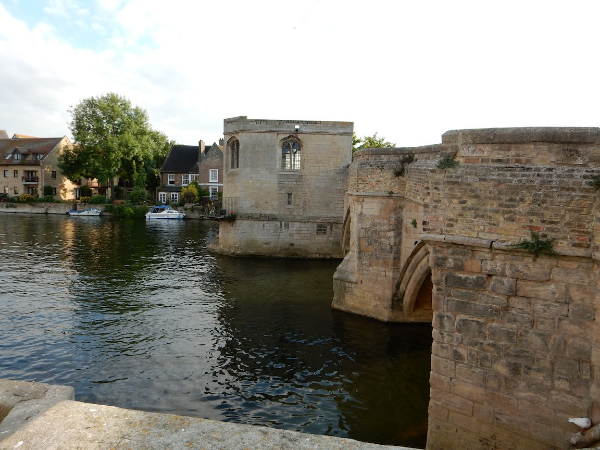 St. Ives Bridge Chapel, one of only a few in the UK, St. Ives, Cambridgeshire, UK (Jul 2014)