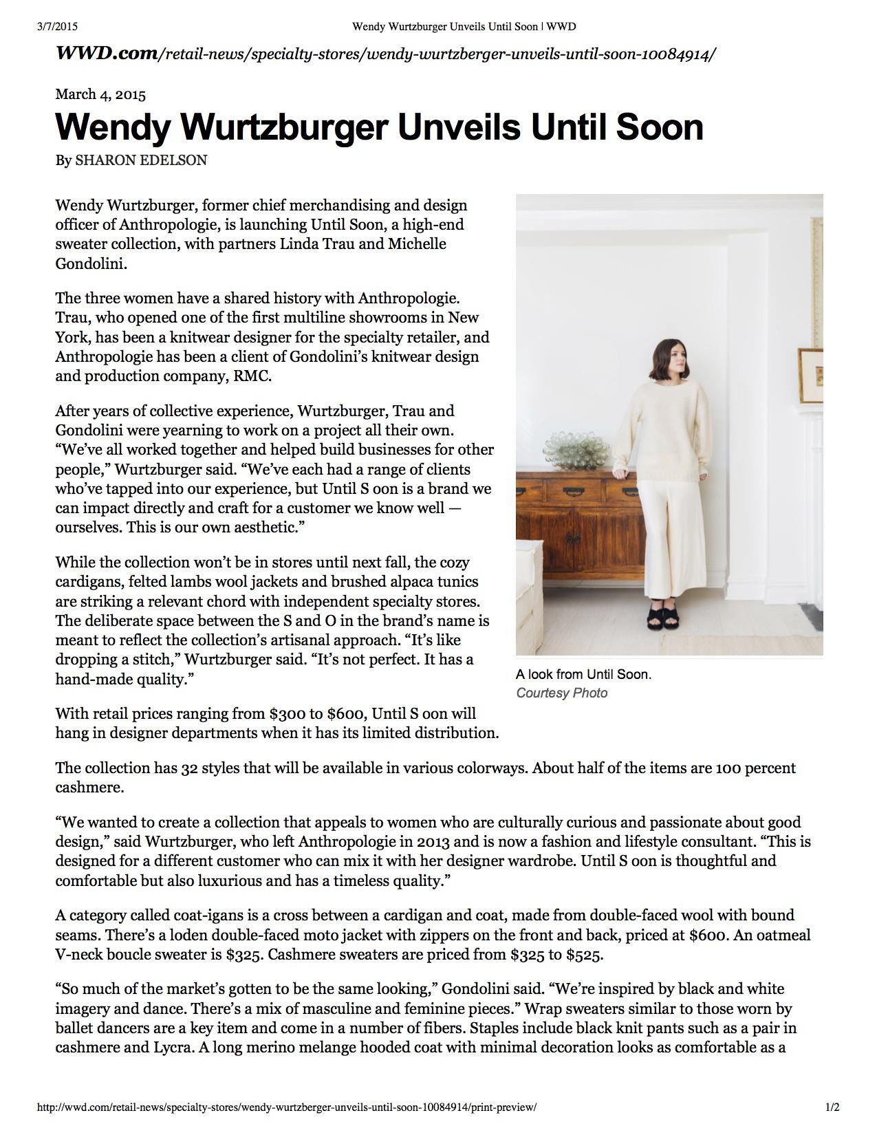 Wendy Wurtzburger Unveils Until Soon | WWD.jpg