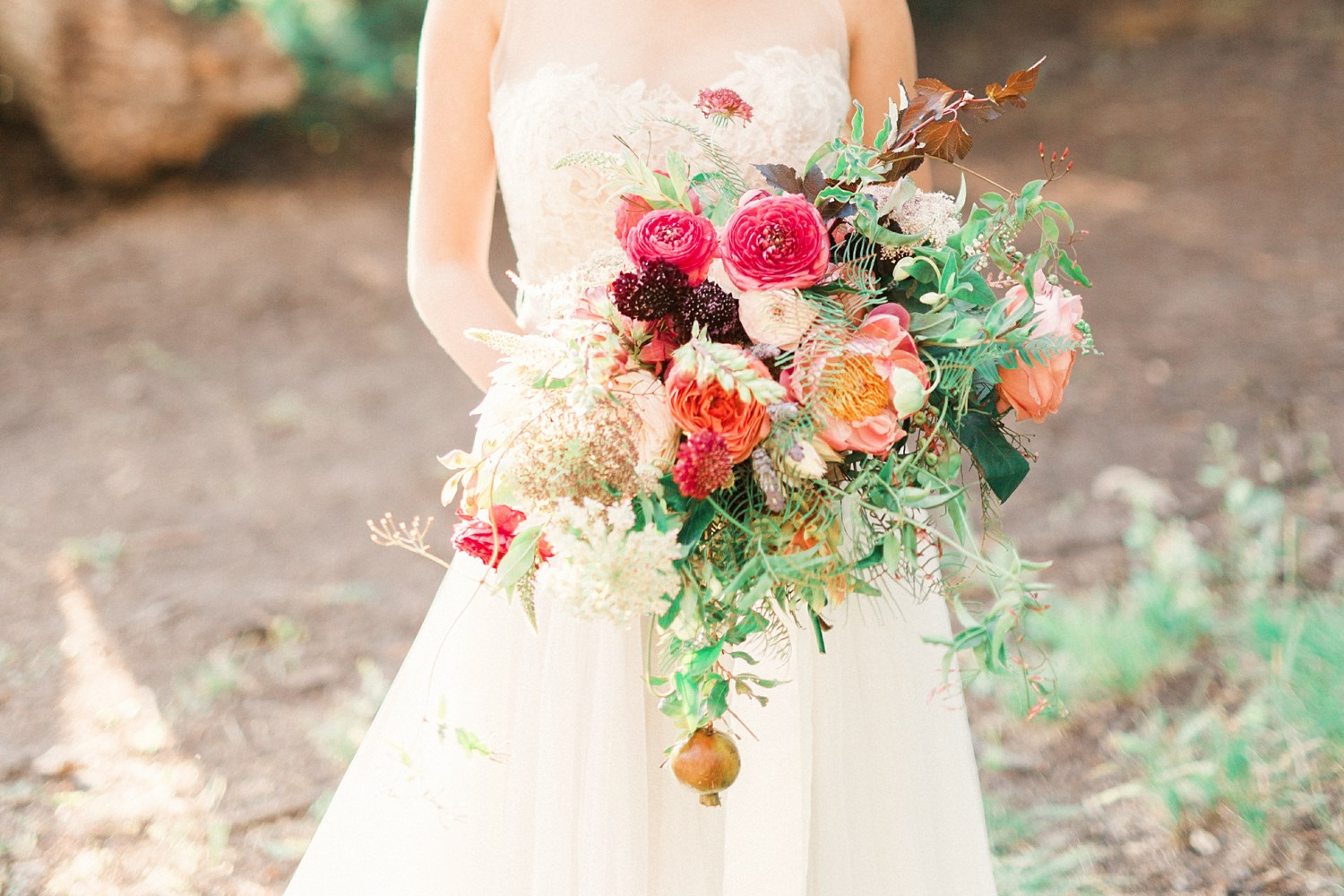 burgundy and pink bridal bouquet by bloomers