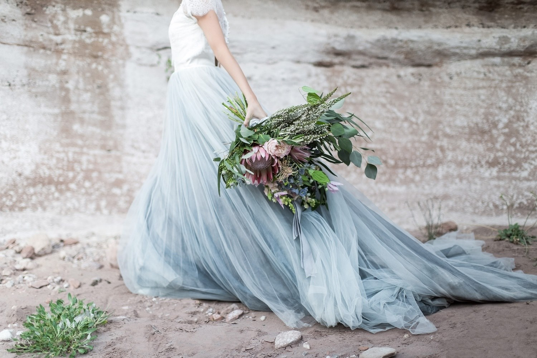 oversized bridal bouquet rose quartz and serenity