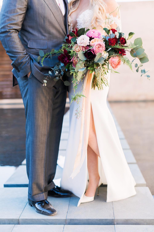 burgundy + blush + marsala bridal bouquet