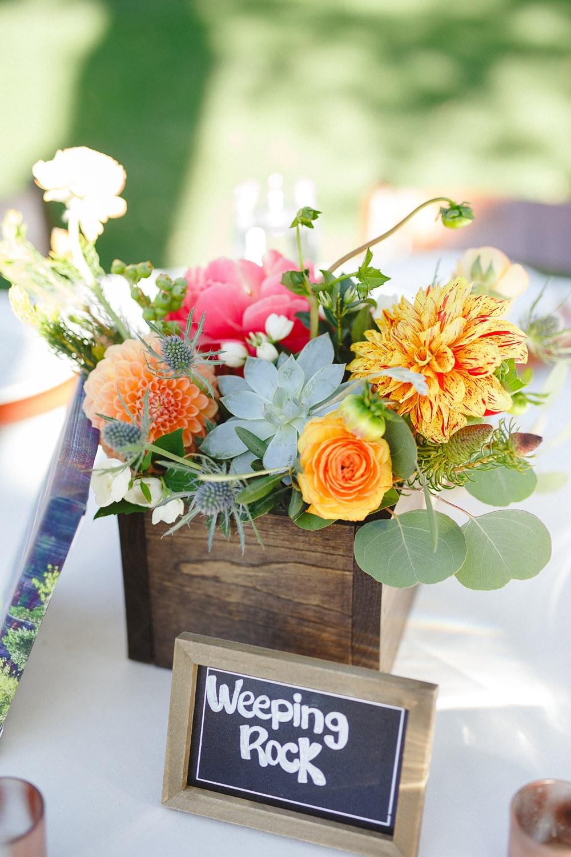 zion wedding centerpiece