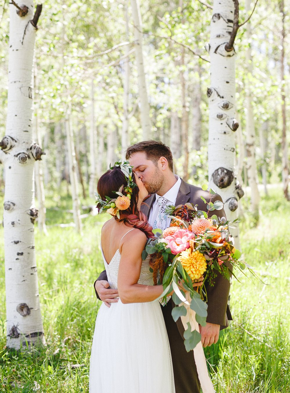 zion wedding floral crown