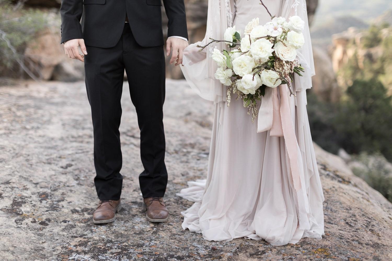 white and blush oversized bridal bouquet